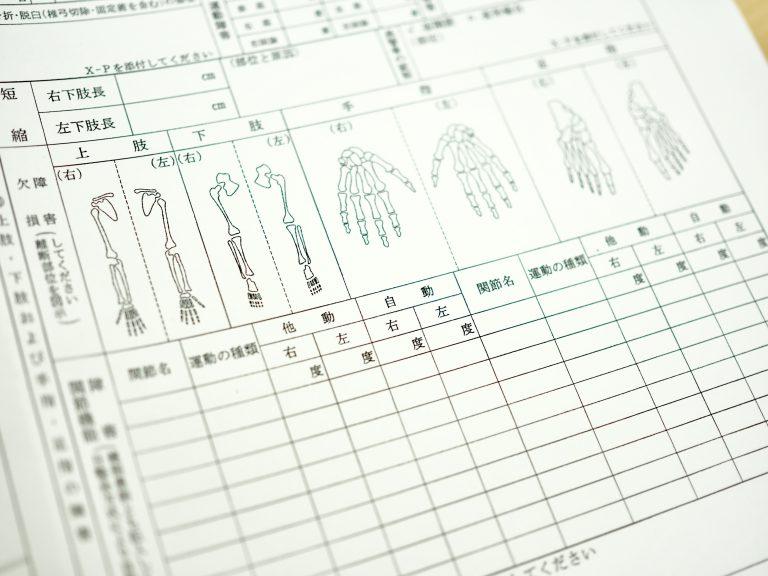 手指の欠損障害について